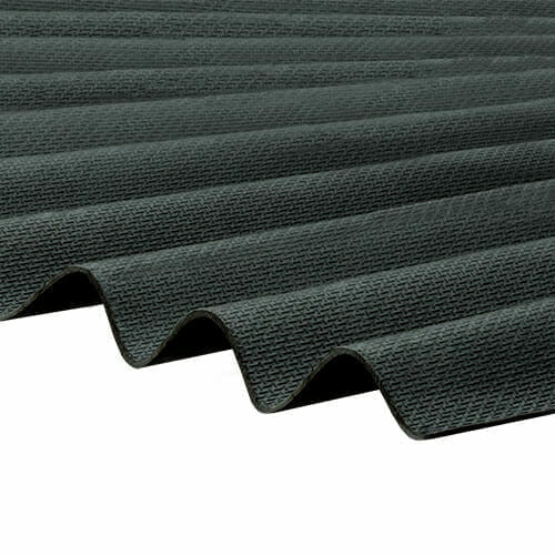CORRAPOL-BT Corrugated Bitumen Sheet - Black - 930mm x 2000mm