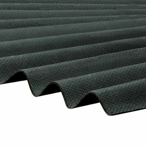 CORRAPOL-BT Corrugated Bitumen Sheet - Black - 930mm x 2000mm