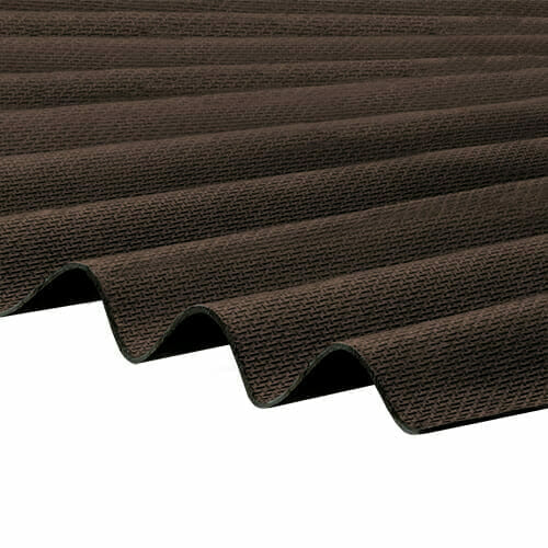 CORRAPOL-BT Corrugated Bitumen Sheet - Brown - 930mm x 2000mm
