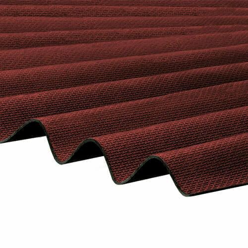 CORRAPOL-BT Corrugated Bitumen Sheet - Red - 930mm x 2000mm