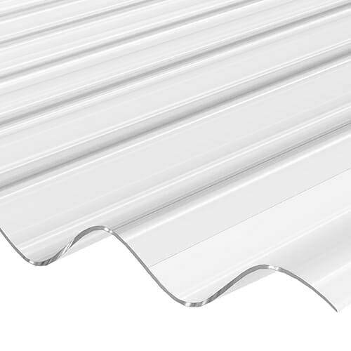 CORRAPOL Stormproof Corrugated Sheet - Low Profile - Clear - 840mm x 2440mm