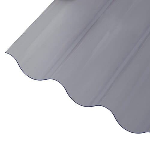 CORRAPOL-PVC DIY Grade Corrugated Sheet - Clear - 950mm x 2500mm