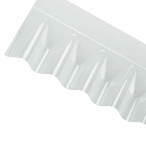 CORRAPOL-PVC DIY Grade Corrugated Sheet Wall Flashing - Clear - 950mm