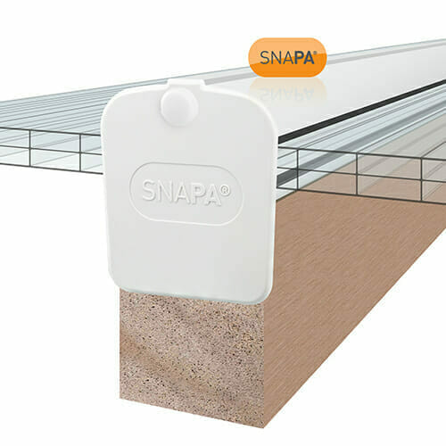 Snapa Lean-to Bar 10, 16, 25, 32, & 35mm.Inc.Endcp 3m White