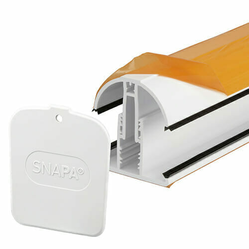 Snapa Lean-to Bar 10, 16, 25, 32,&35mm.Inc.Endcp 2.5m White