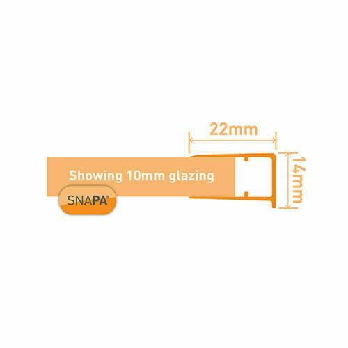 Snapa 10mm PVC Drip Trim White 2.1m