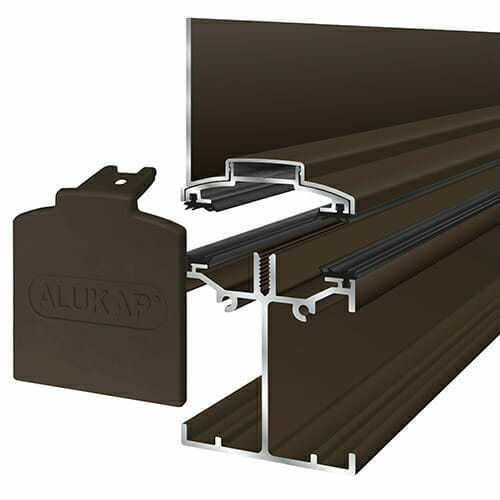 Alukap-SS Low Profile Wall Bar 6.0m Brown