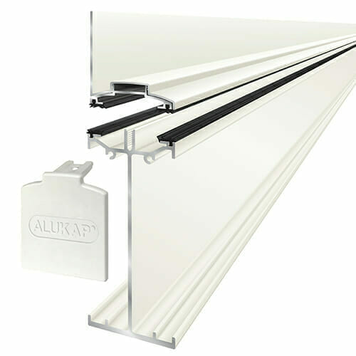 Alukap-SS High Span Wall Bar 6.0m White