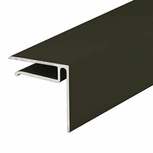Alukap-XR 6.4mm End Stop Bar 4.8m Brown