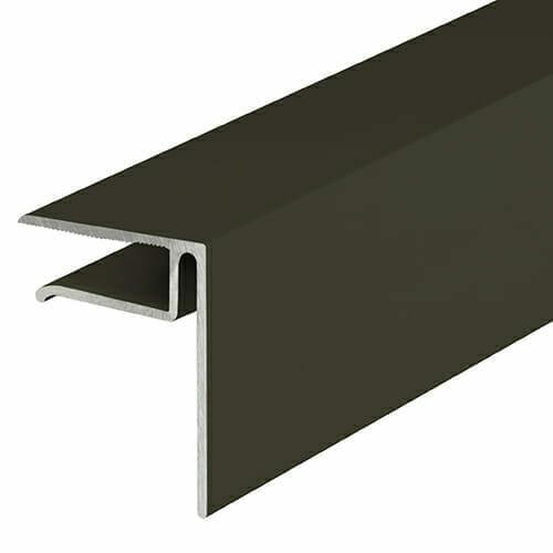 Alukap-XR 10mm End Stop Bar 3.6m Brown