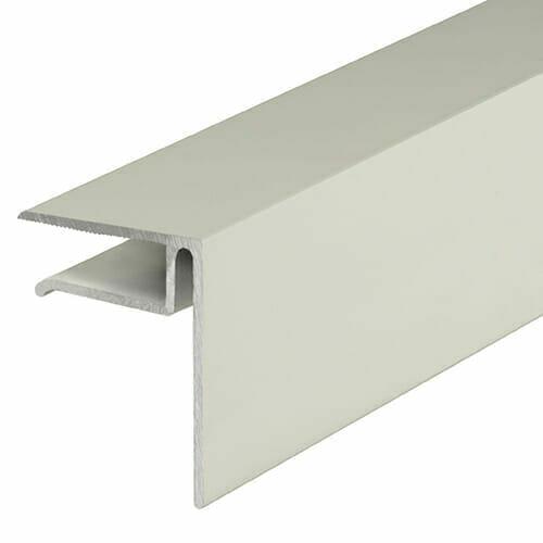 Alukap-XR 10mm End Stop Bar 3.6m White