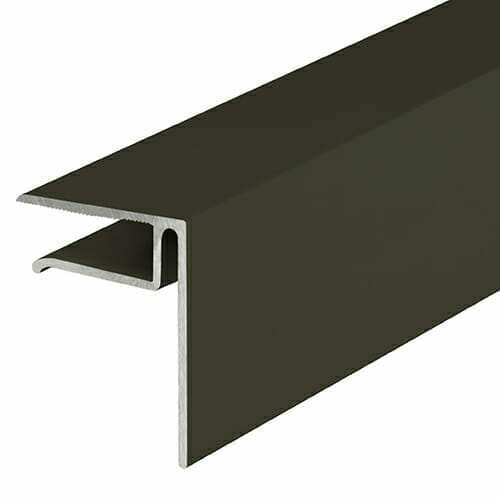 Alukap-XR 10mm End Stop Bar 4.8m Brown
