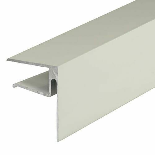 Alukap-XR 16mm End Stop Bar 3m White