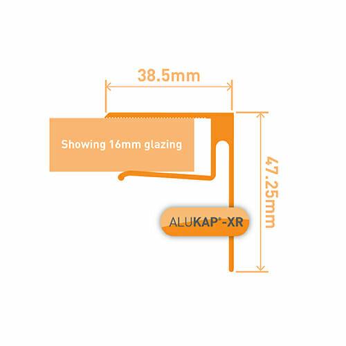 Alukap-XR 16mmEnd Stop Bar 3.6m White