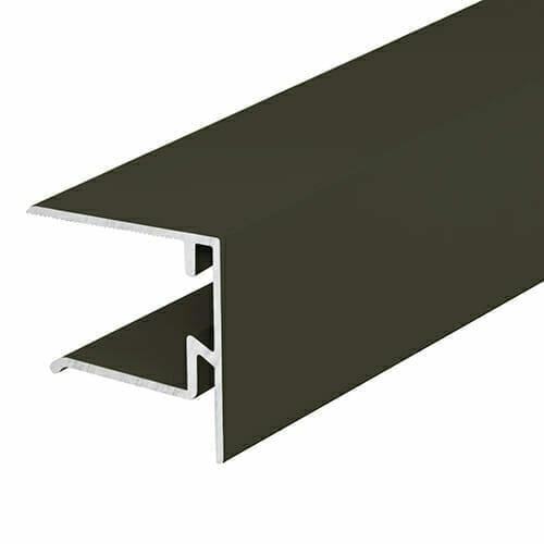 Alukap-XR 25mm End Stop Bar 3m Brown