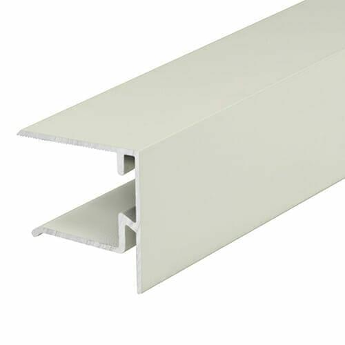 Alukap-XR 25mm End Stop Bar 3m White