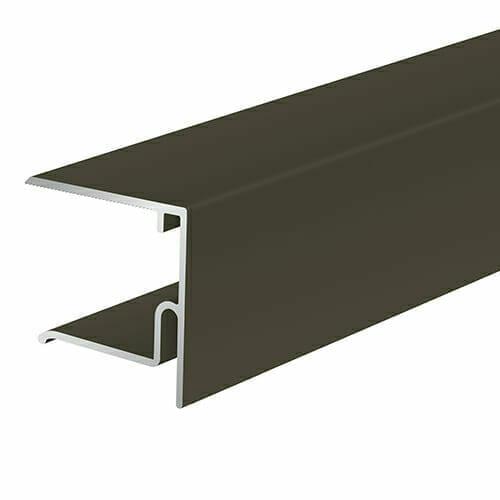 Alukap-XR 28mm End Stop Bar 4.8m Brown