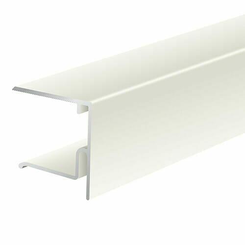 Alukap-XR 28mm End Stop Bar 4.8m White