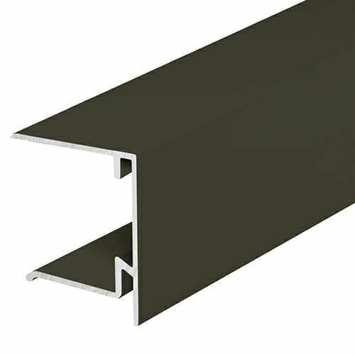 Alukap-XR 35mm End Stop Bar 3.6m Brown