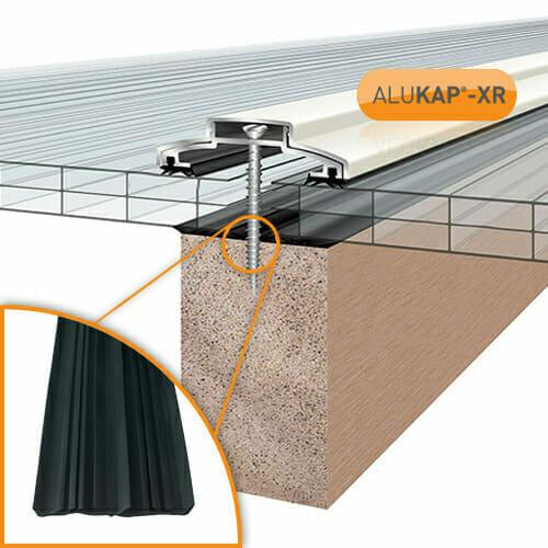 Alukap-XR 60mm Bar 6.0m 45mm RG WH Alu E/Cap