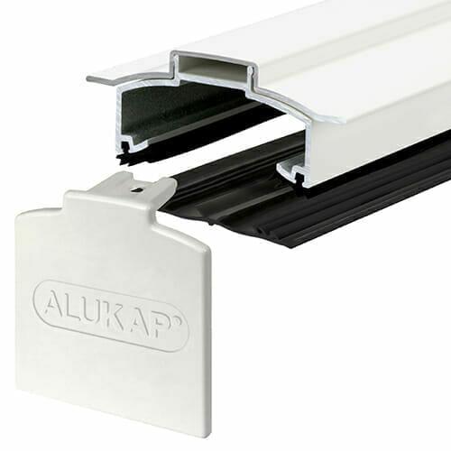 Alukap-XR Hip Bar 3.0m  45mm RG WH Alu E/Cap