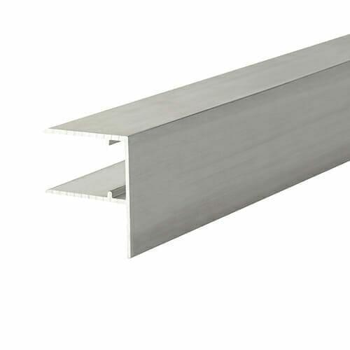 Alukap-XR 16mm Aluminium F Section 4m